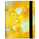 Gold Blue Abstract Blossom Kindle Fire (1st Gen) Flip Case View2