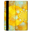 Gold Blue Abstract Blossom Kindle Fire (1st Gen) Flip Case View3
