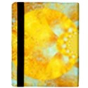 Gold Blue Abstract Blossom Apple iPad 2 Flip Case View3