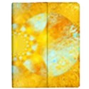 Gold Blue Abstract Blossom Apple iPad Mini Flip Case View1