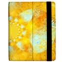 Gold Blue Abstract Blossom Apple iPad Mini Flip Case View2