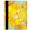 Gold Blue Abstract Blossom Apple iPad Mini Flip Case View3