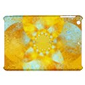 Gold Blue Abstract Blossom Apple iPad Mini Hardshell Case View1