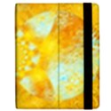 Gold Blue Abstract Blossom Samsung Galaxy Tab 7  P1000 Flip Case View2