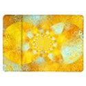 Gold Blue Abstract Blossom Samsung Galaxy Tab 10.1  P7500 Flip Case View1
