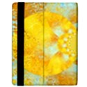 Gold Blue Abstract Blossom Samsung Galaxy Tab 10.1  P7500 Flip Case View2