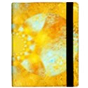 Gold Blue Abstract Blossom Samsung Galaxy Tab 10.1  P7500 Flip Case View3