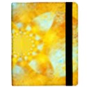 Gold Blue Abstract Blossom Samsung Galaxy Tab 8.9  P7300 Flip Case View2