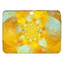 Gold Blue Abstract Blossom Samsung Galaxy Tab 3 (10.1 ) P5200 Hardshell Case  View1