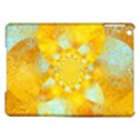 Gold Blue Abstract Blossom iPad Air Hardshell Cases View1