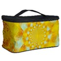 Gold Blue Abstract Blossom Cosmetic Storage Case View2