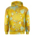 Gold Blue Abstract Blossom Men s Pullover Hoodie View1