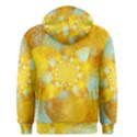 Gold Blue Abstract Blossom Men s Pullover Hoodie View2