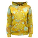 Gold Blue Abstract Blossom Women s Pullover Hoodie View1