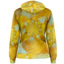 Gold Blue Abstract Blossom Women s Pullover Hoodie View2