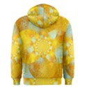 Gold Blue Abstract Blossom Men s Zipper Hoodie View2