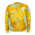 Gold Blue Abstract Blossom Men s Sweatshirt View1