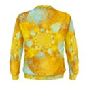 Gold Blue Abstract Blossom Men s Sweatshirt View2