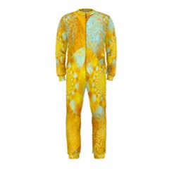 Gold Blue Abstract Blossom OnePiece Jumpsuit (Kids)