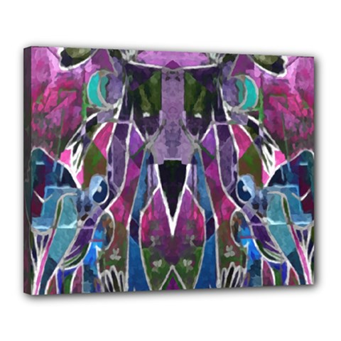 Sly Dog Modern Grunge Style Blue Pink Violet Canvas 20  x 16