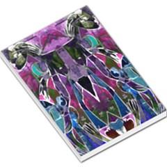 Sly Dog Modern Grunge Style Blue Pink Violet Large Memo Pads