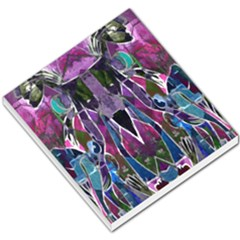 Sly Dog Modern Grunge Style Blue Pink Violet Small Memo Pads