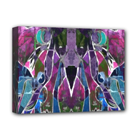 Sly Dog Modern Grunge Style Blue Pink Violet Deluxe Canvas 16  x 12