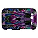 Sly Dog Modern Grunge Style Blue Pink Violet HTC Wildfire S A510e Hardshell Case View1