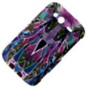 Sly Dog Modern Grunge Style Blue Pink Violet HTC Wildfire S A510e Hardshell Case View4