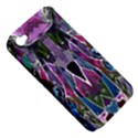 Sly Dog Modern Grunge Style Blue Pink Violet Apple iPhone 4/4S Hardshell Case (PC+Silicone) View5