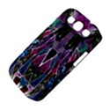 Sly Dog Modern Grunge Style Blue Pink Violet Samsung Galaxy S III Classic Hardshell Case (PC+Silicone) View4