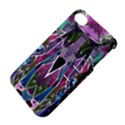 Sly Dog Modern Grunge Style Blue Pink Violet Apple iPhone 4/4S Hardshell Case with Stand View4