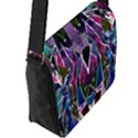 Sly Dog Modern Grunge Style Blue Pink Violet Flap Messenger Bag (L)  View2