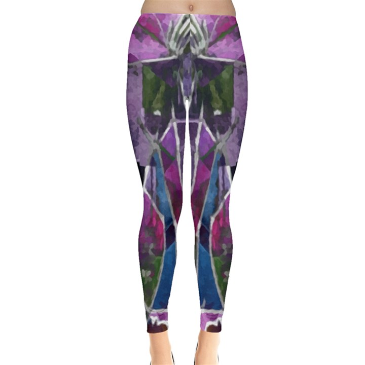 Sly Dog Modern Grunge Style Blue Pink Violet Leggings