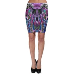 Sly Dog Modern Grunge Style Blue Pink Violet Bodycon Skirt