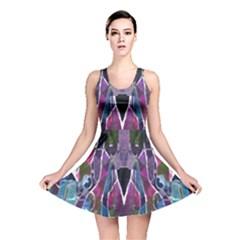 Sly Dog Modern Grunge Style Blue Pink Violet Reversible Skater Dress