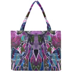 Sly Dog Modern Grunge Style Blue Pink Violet Mini Tote Bag