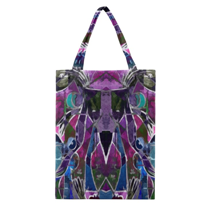 Sly Dog Modern Grunge Style Blue Pink Violet Classic Tote Bag