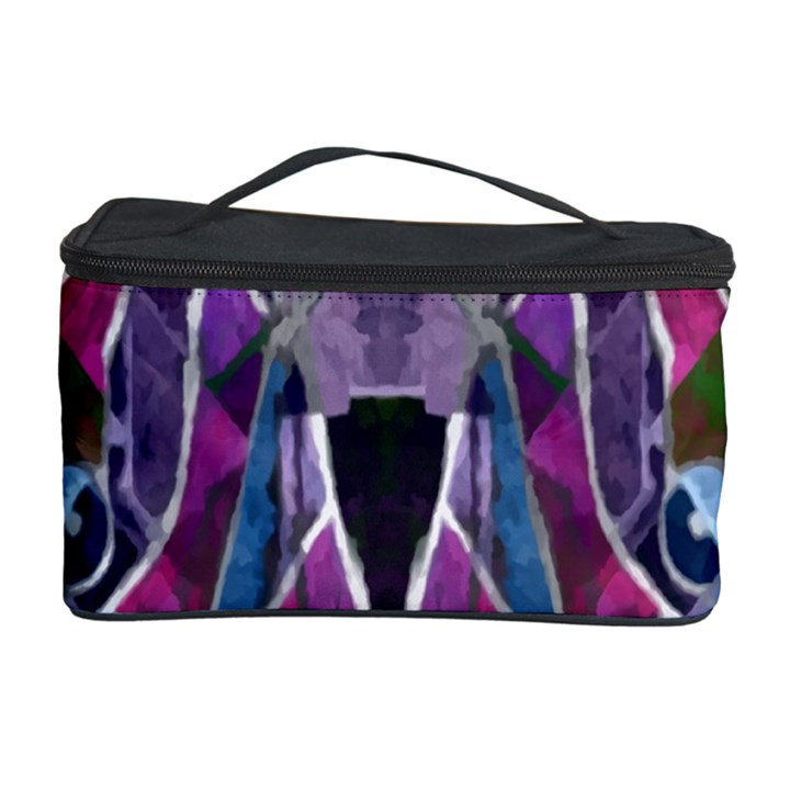 Sly Dog Modern Grunge Style Blue Pink Violet Cosmetic Storage Case