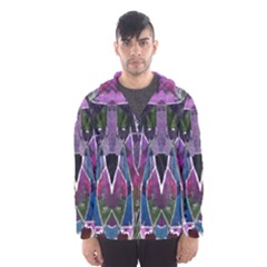 Sly Dog Modern Grunge Style Blue Pink Violet Hooded Wind Breaker (Men)