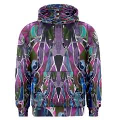 Sly Dog Modern Grunge Style Blue Pink Violet Men s Pullover Hoodie