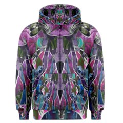 Sly Dog Modern Grunge Style Blue Pink Violet Men s Zipper Hoodie