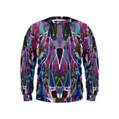 Sly Dog Modern Grunge Style Blue Pink Violet Kids  Sweatshirt