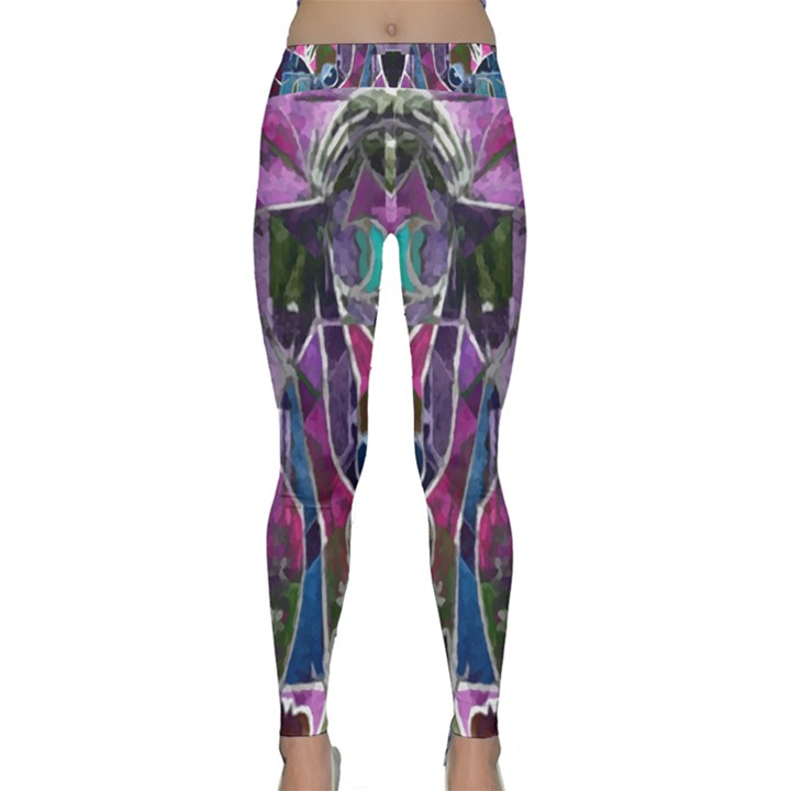 Sly Dog Modern Grunge Style Blue Pink Violet Yoga Leggings