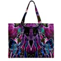 Sly Dog Modern Grunge Style Blue Pink Violet Zipper Mini Tote Bag View1
