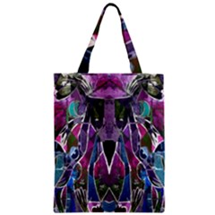 Sly Dog Modern Grunge Style Blue Pink Violet Zipper Classic Tote Bag