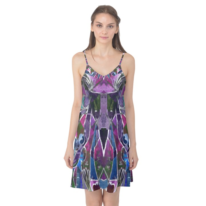 Sly Dog Modern Grunge Style Blue Pink Violet Camis Nightgown