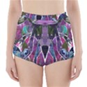 Sly Dog Modern Grunge Style Blue Pink Violet High-Waisted Bikini Bottoms View1
