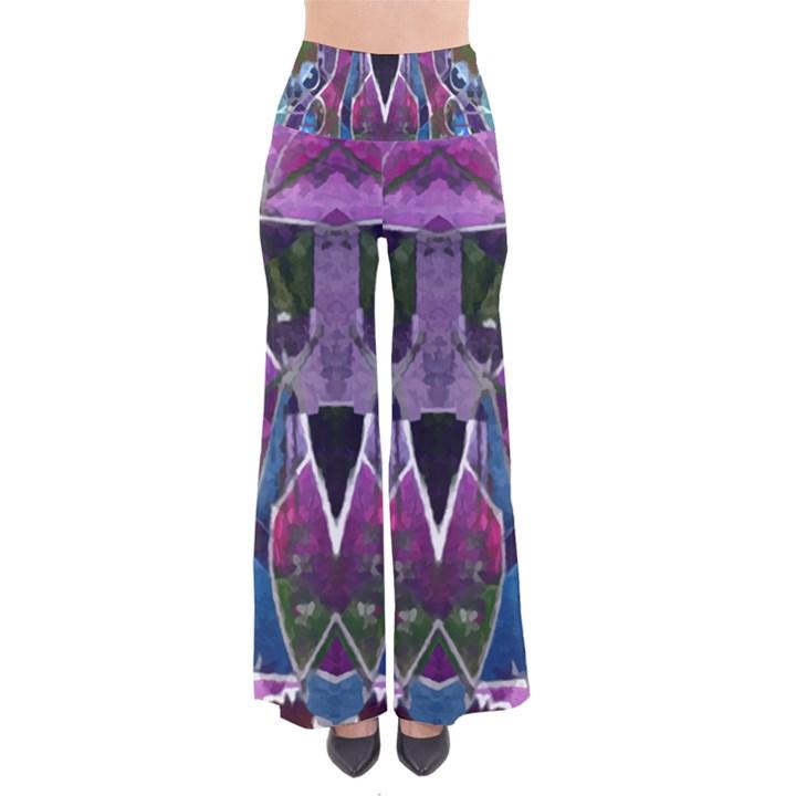 Sly Dog Modern Grunge Style Blue Pink Violet Pants