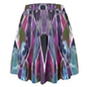 Sly Dog Modern Grunge Style Blue Pink Violet High Waist Skirt View2